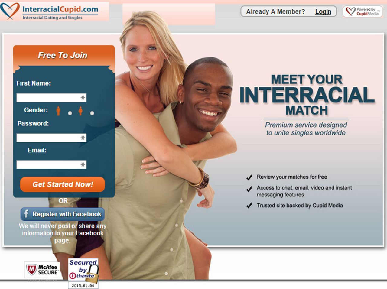 Interracial cupid dating