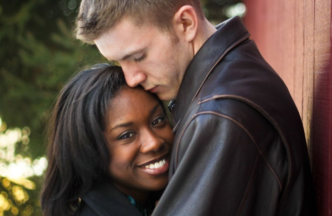 Interracial relationship black and white campus