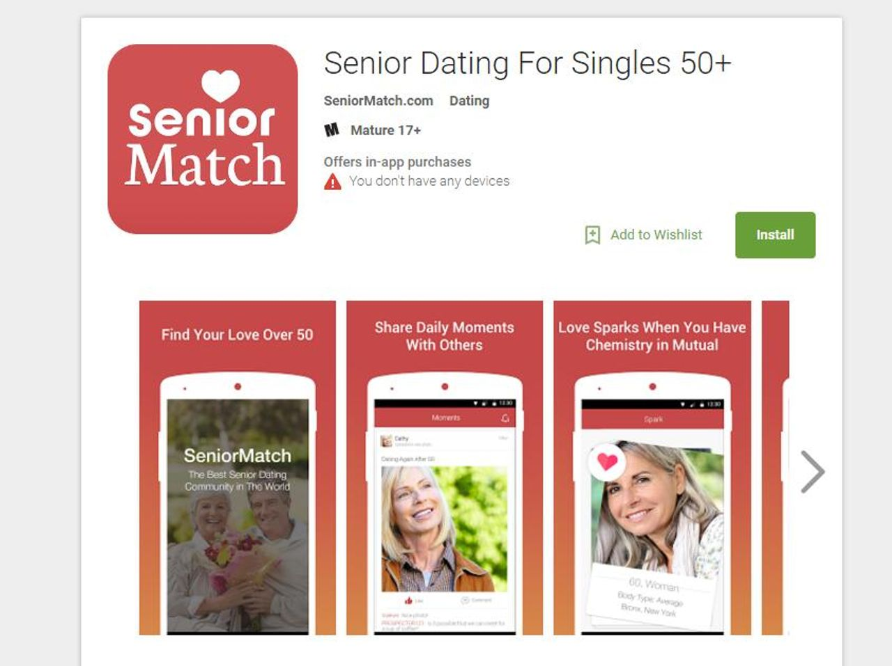 Senior match dating
